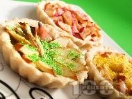 Ябълкови тарталети със сметана за десерт